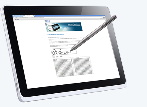 Electronic Signature Tablet-PC Software